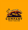 awesome cool leopard logo design vector image vector image
