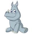 baby rhino vector image vector image