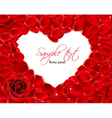 beautiful heart of red rose petals vector image