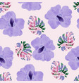 beautiful purple orchid flowers and tropical vector image vector image