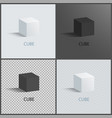 black and white cubes set vector image vector image