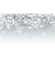 blurred motion falling snow 3d effect with vector image vector image