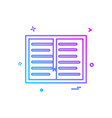 book study read icon design vector image