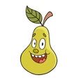 Cartoon pear vector image vector image
