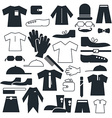 Clothes - Fashion Flat Icons vector image