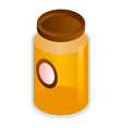 clover honey jar icon isometric style vector image vector image