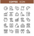 coffee and tea line icons vector image