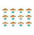 collection of 12 of little girl showing vector image vector image