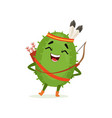 cute cactus native american indian funny plant vector image