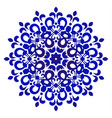 decorative blue and white ornamental mandala vector image vector image
