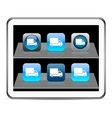 Delivery blue app icons vector image vector image