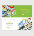 developed infrastructure - set modern colorful vector image vector image