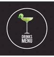 drink menu cocktail restaurant bar design vector image vector image