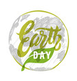 earth day poster template vector image vector image