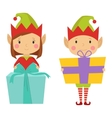 Elf helpers set vector image