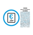 Euro Contract Rounded Icon with 1000 Bonus Icons vector image vector image