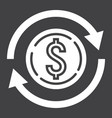 exchange glyph icon business and finance dollar vector image