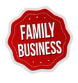 family business label or sticker vector image