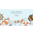 Flat travel background Summer holidays vacation vector image vector image