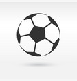 football or soccer ball icon vector image vector image
