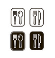 fork and spoon sign restaurant or cafe vector image vector image