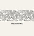 fresh organic banner concept vector image vector image