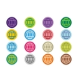 globe earth logo icon set vector image vector image