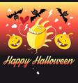 graphics halloween and pumpkins vector image vector image