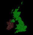 great britain and ireland map mosaic of circles vector image