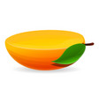 half of mango icon cartoon style vector image