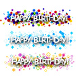 Happy birthday colour banners vector image vector image