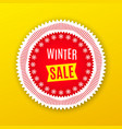 holiday banner of winter sale red white yellow vector image