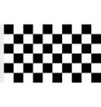 image of checkered fabric cloth for the finish vector image