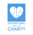 international charity day vector image
