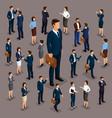isometric 3d big boss businessman leader vector image