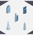 isometric construction set of exterior vector image