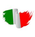 italy flag symbol icon design italian flag color vector image vector image