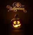 Jack o Lantern Dark Happy vector image vector image