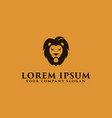 luxury simple lion head logo design concept vector image