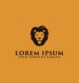 Luxury simple lion head logo design concept