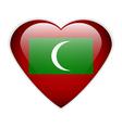 Maldives flag button vector image