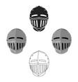 medieval helmet icon cartoonblack single weapon vector image