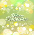 Merry Christmas with Snowflakes Background vector image vector image
