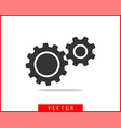 metal gears and cogs gear icon flat design vector image