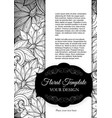 mohochrome floral template with place for text vector image vector image