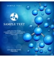 Molecules background in blue vector image vector image