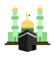 mosque kaaba islamic design vector image
