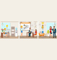 office work and startup development vector image