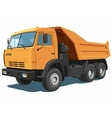 Orange dump truck vector image vector image