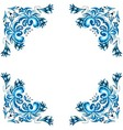 ornate winter frame vector image vector image